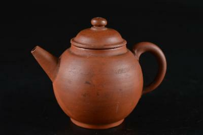 G1493: Japanese Old Tokoname-ware Brown pottery TEAPOT Kyusu Sencha Tea Ceremony