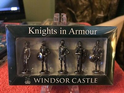 Knights In Armour Windsor Castle Action Figurines Pewter Set From London