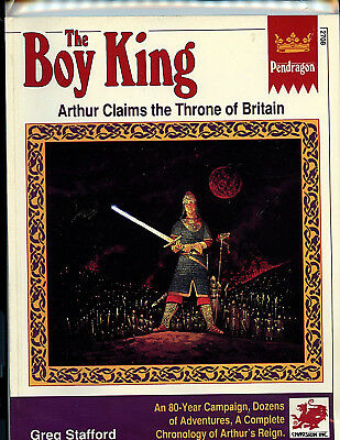 The Boy King Pendragon RPG #2708 1991 Chasoium Amricons H14