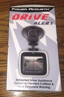 Power Acoustik Drive Alert Distracted Driver Assistant, Collision Warning,Camera