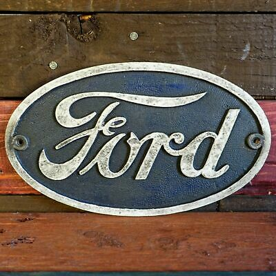 Ford Auto Cast Iron Plaque, Embossed Sign For Auto Shop Garage Bar Man Cave