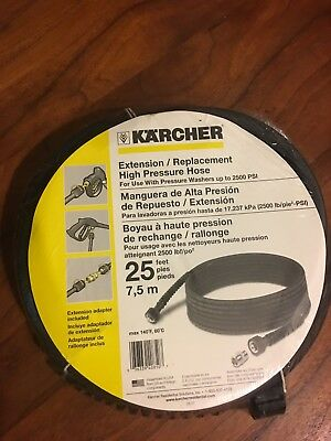 New Karcher 25' Extension / Replacement High Pressure Hose for Pressure Washer