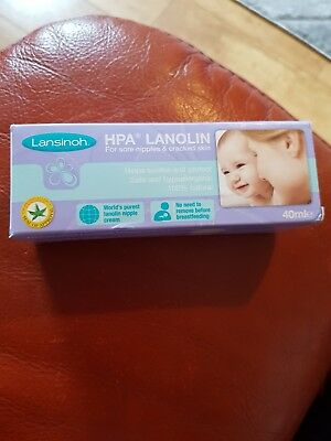 Brand New Lansinoh HPA Lanolin Cream for Sore Nipples & Cracked Skin (40ml)