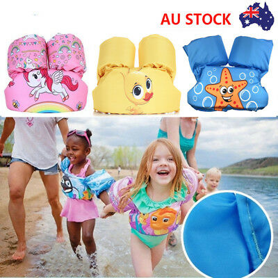 AU Kid Floaties Adjustable Swim Vest Toddlers Pool Floats Child Buoyancy Trainer