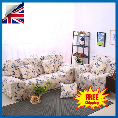 1 2 3 Seater Floral Elastic Lounge Sofa Couch Covers Stretch Slipcover Protector