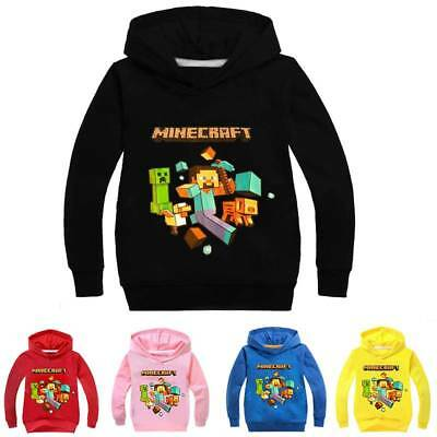 Minecraft Creeper Kinder Jungen Hoodie Mantel  Sweatshirt Jacke T-Shirt