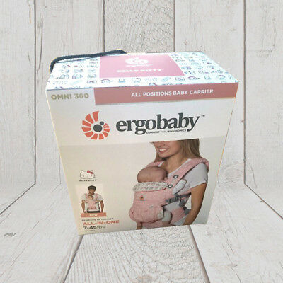 NEW! ERGOBABY OMNI 360 COTTON Multi Position Ergo baby carrier, HELLO KITTY PINK