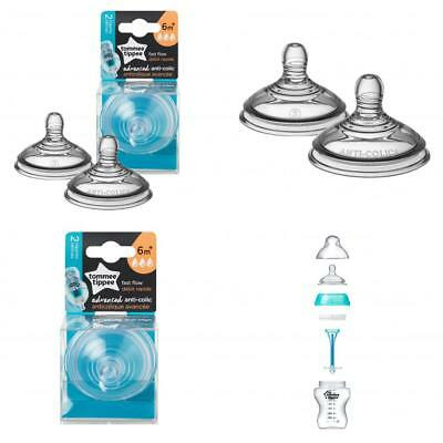 Tommee Tippee Advanced Anti-Colic Fast Flow Nipple, 2-Pack