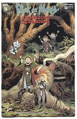 Rick & Morty Vs Dungeons & Dragons #3 1:20 Variant Cover Nm