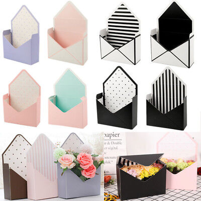 8 Style Romantic Envelope Flower Paper Holder Box Bouquet Florist Packing Supply