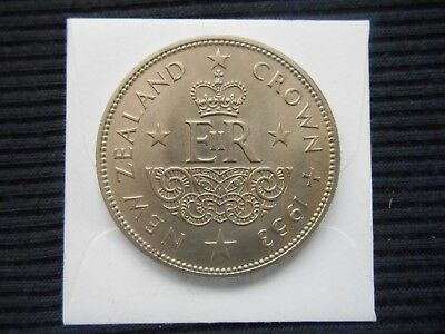 "1953 New Zealand Crown Coin "" Coronation "" Queen Elizabeth"