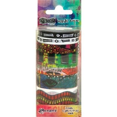 Dyan Reaveley's Dylusions Washi Tape Set - Set #4 - 7 Rolls