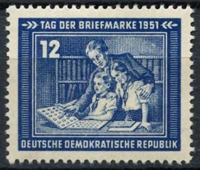 East Germany DDR 1951 SG#E52 Stamp Day MH #D80971
