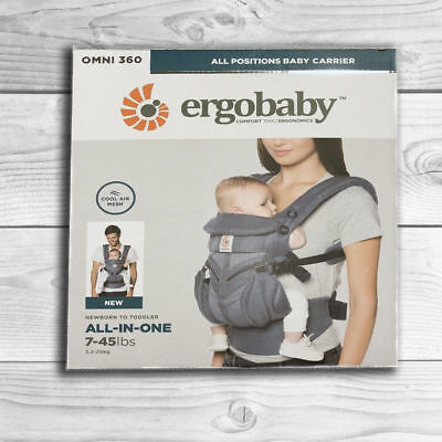 NEW! ERGOBABY 360 OMNI COOL AIR MESH ERGO BABY Carrier Sling Wrap OXFORD BLUE