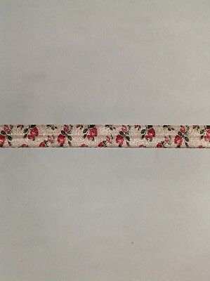1m FOE Floral Fold Over Elastic FREE POST Craft Party Aussie Seller