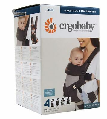 NEW! ERGOBABY 360 COOL AIR MESH 4 Position Ergo baby carrier Sling Wrap 3 COLORS