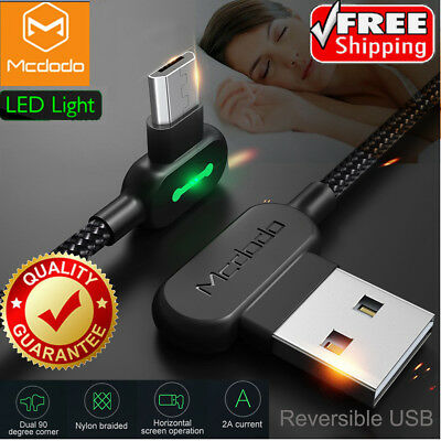 MCDODO Micro USB Bolt LED Fast Charging Syn Cable For Samsung S7 S6 edge Android
