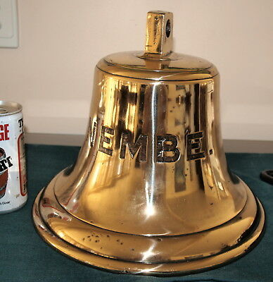 """337 Large Antique Ship's Bell - """" Nembe"""""""