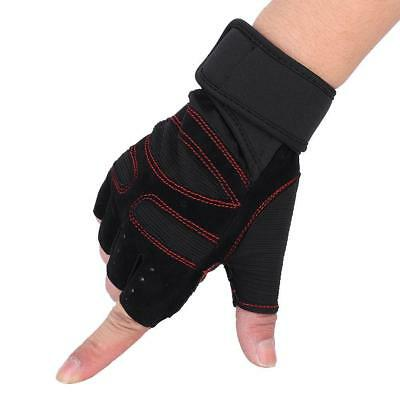 Gym Gloves Weight Lifting Fitness Bodybuilding Strength Training Wrist Leather S