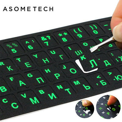 "Russian Laptop Keyboard Sticker Waterproof PVC Keypad Sticker For Mac 10-17"" PC"
