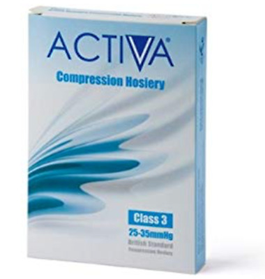 Activa CLASS 3 Compression Hosiery / Thigh Length, SAND, Open Toe, MEDIUM