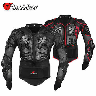 Motorcycle Motocross Race Full Body Armor Spine Chest Protective Jacket Gear