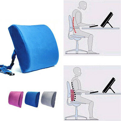 Memory Foam Lumbar Back Pillow Support Back Cushion Home Office Car Seat Chair