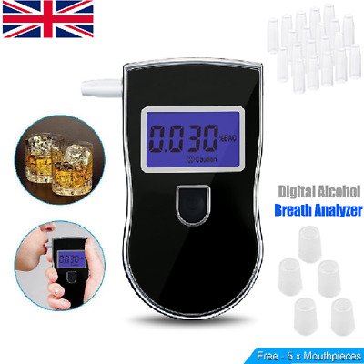 Digital LCD Police Breathalyzer Home Breath Test Alcohol Tester Analyzer Detecto
