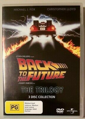 Back To The Future Trilogy (3 Disc Set) DVD **LIKE NEW** (Region 2/4)