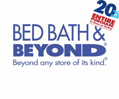 Bed Bath and Beyond  20% Off Entire Purchase 1coupon - expires 02-01-2019