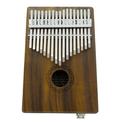 New 17 Keys Kalimba Solid Acacia Thumb Piano Built-in Pickup Speaker I/F Y3H9