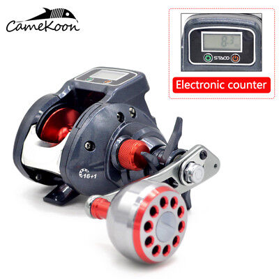 CAMEKOON Baitcasting Fishing Reels 6.3:1 Gear Ratio With Line Counter Baitcaster