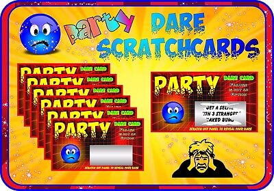 Party Dare Scratch Cards Customise Invite Cards Birthday Party Scratchcards gift