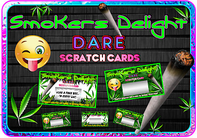 Stoner Party Dare Scratch Cards Customise Invite Cards Birthday Party gift weed