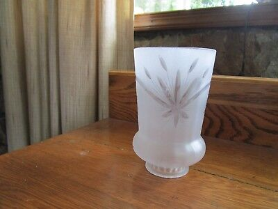 Vintage Antique Frosted Glass Light Lamp Shade Deco