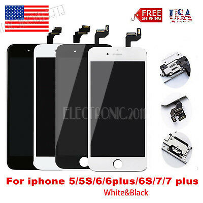 For iPhone 8 6 6s 5s 5 SE 7 LCD Touch Digitizer Screen Replacement+ Home Button