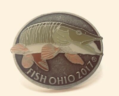2017 Fish Ohio Hat or Lapel Pin ODNR Award NOS In Package