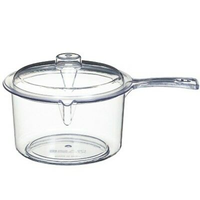 New 100% Food Safe Material Addis Microwavable Saucepan with Lid Non-Stick 900ml