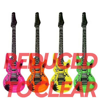 Large Inflatable 106cm Guitar - Choose From 4 Colours - Blow Up Rock & Roll Air