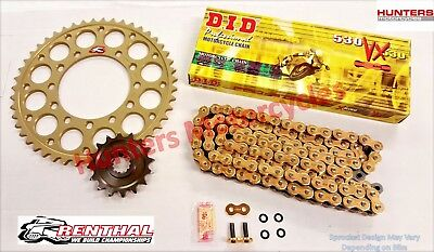 Suzuki GSF1250 Bandit Renthal Sprockets & DID Gold X-Ring Chain Kit Set