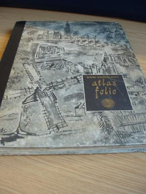 National Geographic Society  50 x 38cms Folio of 62 Maps.