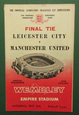 1963  Leicester City v Manchester United  FA Cup Final  Programme  25/05/63