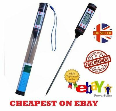 Digital Food Thermometer Probe UK Temperature Kitchen Cooking BBQ Meat Turkey ##