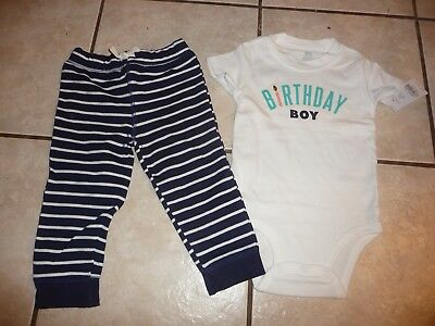 NWT Carters Baby Boy Clothes 18 Months 2 Piece Birthday Outfit NEW