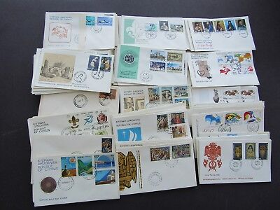CYPRUS - COLLECTION OF 185+ 1st DAY COVERS - 1950s/1980s -ALL FINE UNADDRESSED