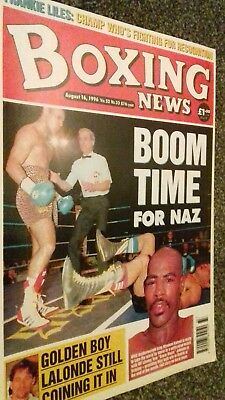 AUG 16th  1996 BOXING NEWS NASEEM HAMED / FRANKIE LILES/DONNY LALONDE FEATURES