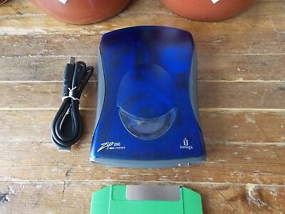 iOmega Zip 250 USB Powered External Drive with USB cable - Z250USBPCMBP Win 7 10