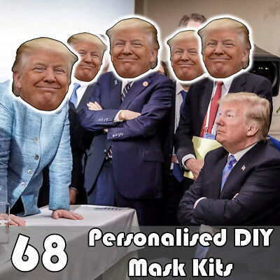 68 Pack Of Personalised Diy Face Mask Kits - Custom Party Masks To Make At Home