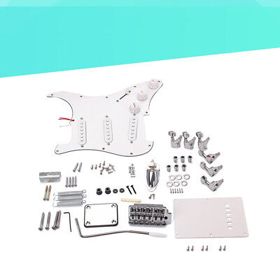 1PC DIY Electric Guitar Kit Guitar Building Full Accessories Set with Back Cover