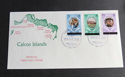 CAICOS 1981 Royal Wedding FDC First Day Cover Diana